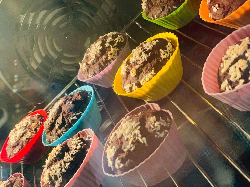czekoladowe babeczki z fasoli