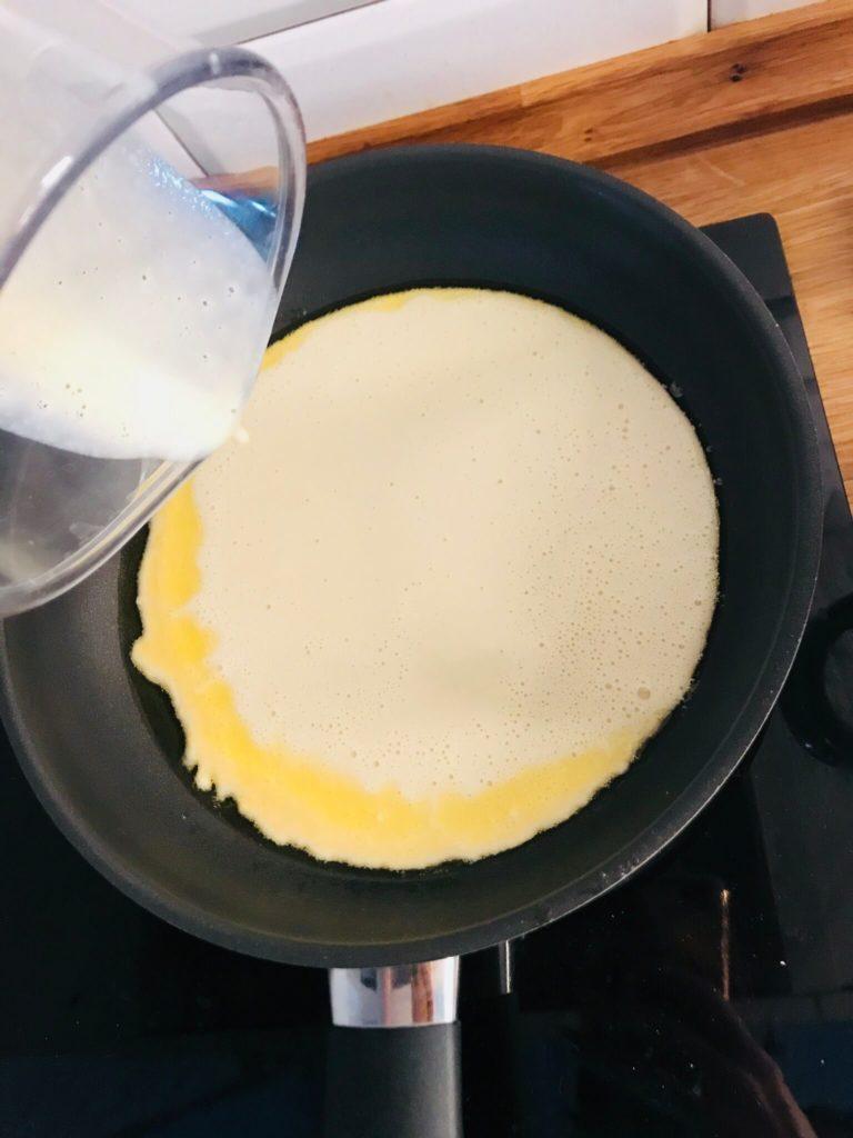 smażenie omletu