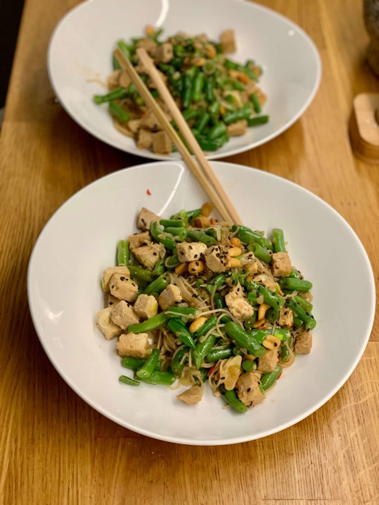 makaron z tofu