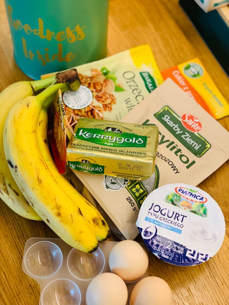 składniki banana bread